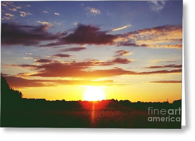 Rossington Sunset 2 Greeting Card