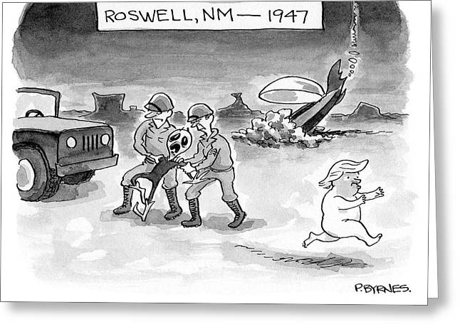 Roswell Nm 1947 Greeting Card