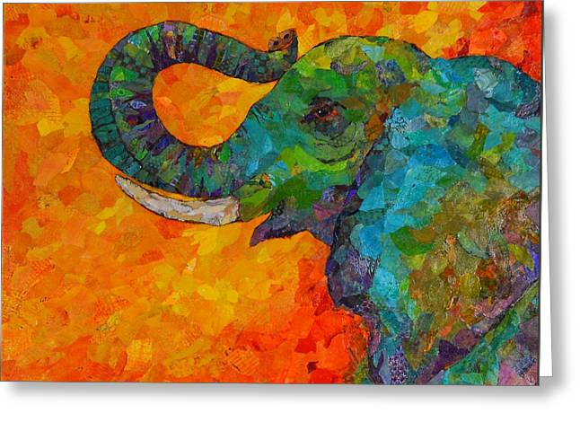 Rosy The Elephant Greeting Card