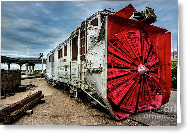 Rotary Snow Plow Vintage Train - Utah Greeting Card by Gary Whitton
