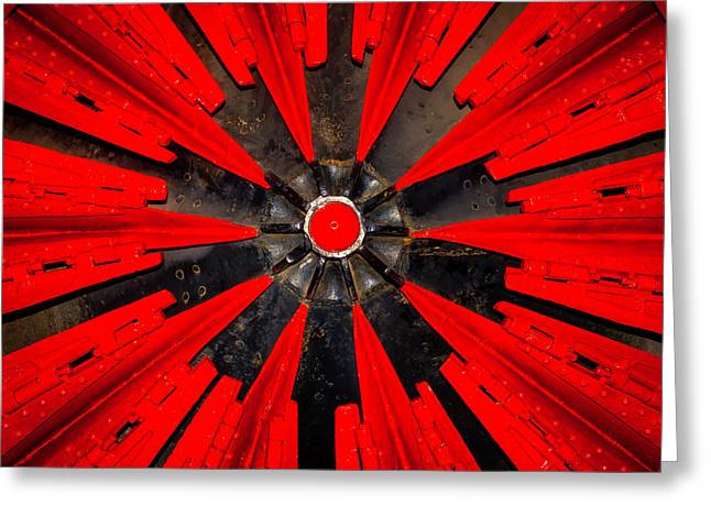 Rotary Snowplow Train Greeting Card by Garry Gay