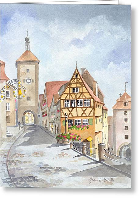 Rothenburg In Germany Greeting Card by Jean White