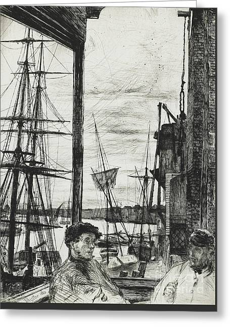 Rotherhithe Greeting Card by James Abbott McNeill Whistler