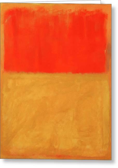 Rothko's Orange And Tan Greeting Card