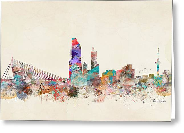 Rotterdam City Skyline Greeting Card