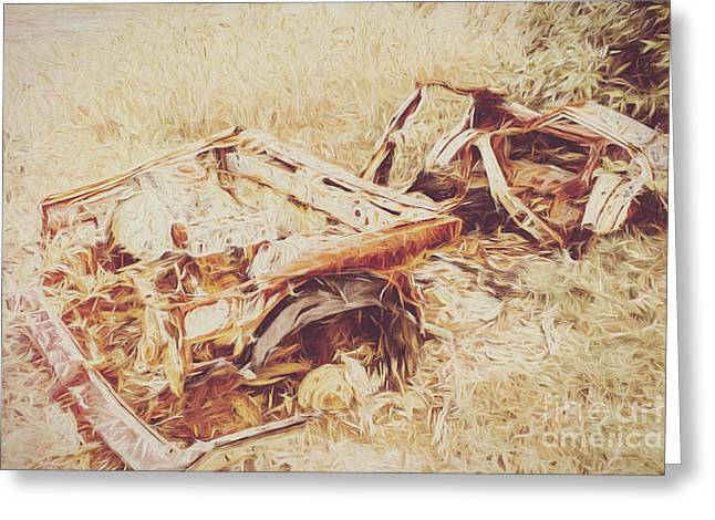 Rotting Radioactive Car Greeting Card by Jorgo Photography - Wall Art Gallery