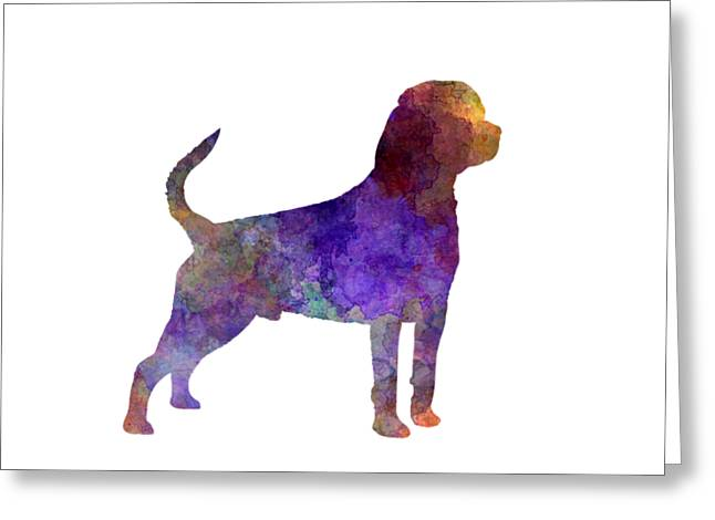 Rottweiler In Watercolor Greeting Card