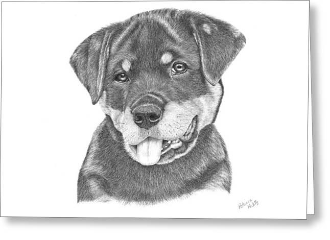 Rottweiler Puppy- Chloe Greeting Card