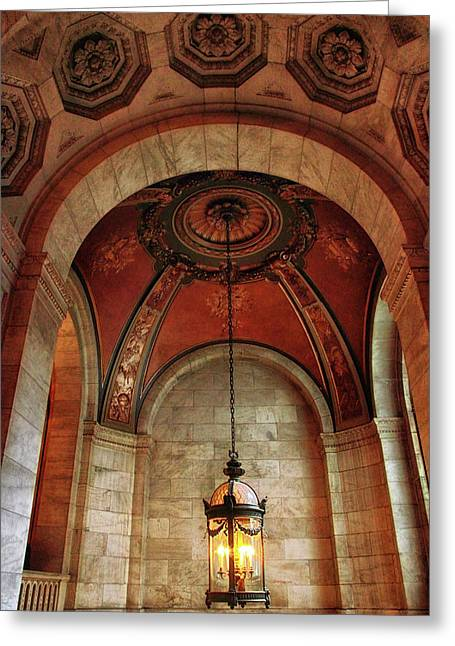 Rotunda Ceiling Greeting Card by Jessica Jenney