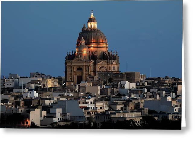Rotunda Xewkija - Gozo Greeting Card by Joana Kruse