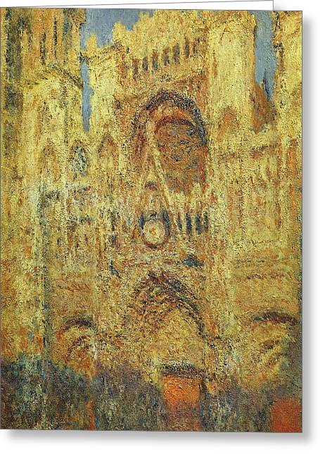 Rouen Cathedral At Sunset Greeting Card