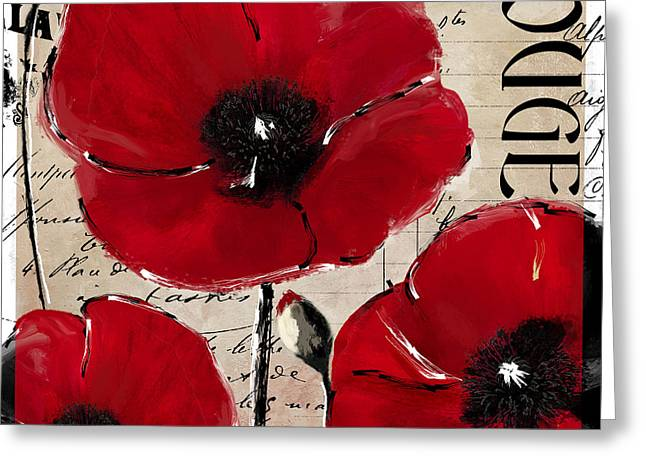 Rouge I Poppy Greeting Card by Mindy Sommers