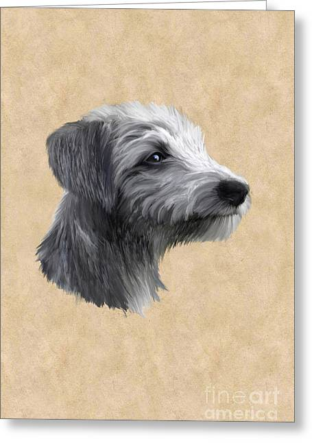 Rough Coated Lurcher  Greeting Card
