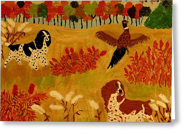 Rough Cover Greeting Card by Betty J Roberts