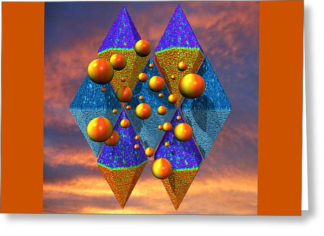 Rough Diamonds Greeting Card by Mark W Ballard