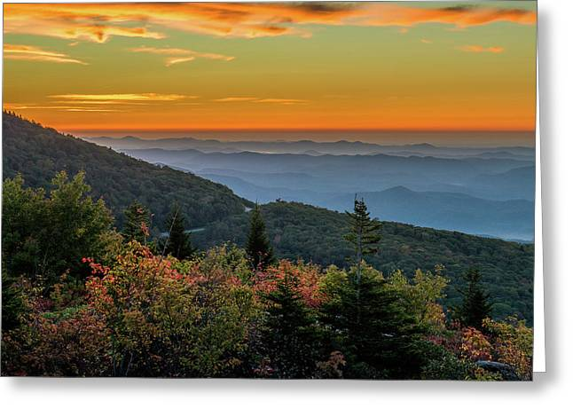 Rough Morning - Blue Ridge Parkway Sunrise Greeting Card