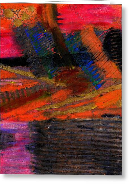 Survivor Art Greeting Cards - Rough Passage Greeting Card by Angela L Walker