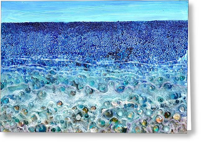Rough Sands Greeting Card by Regina Valluzzi