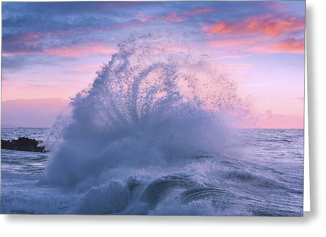 Rough Sea 29 Greeting Card by Giovanni Allievi