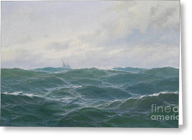 Rough Seascape Greeting Card by Celestial Images