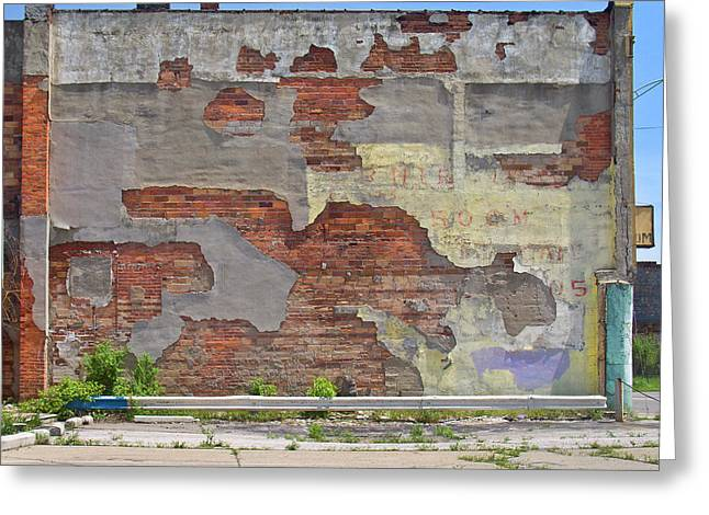 Old Sign Greeting Cards - Rough Wall Greeting Card by David Kyte