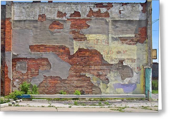 Rough Wall Greeting Card by David Kyte