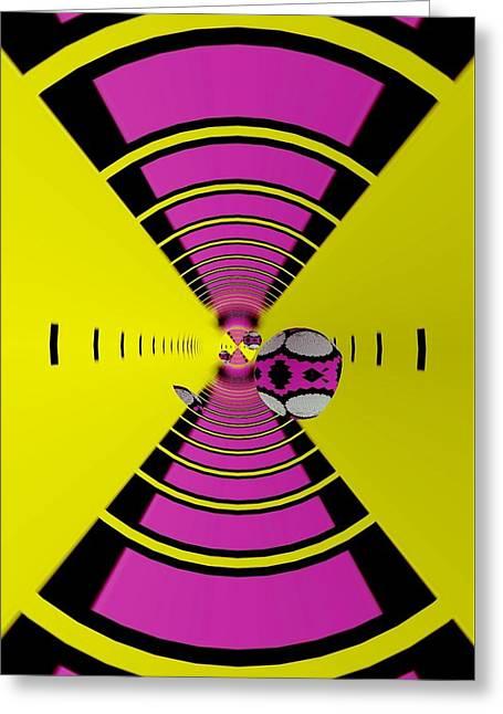Greeting Card featuring the digital art Round Ball Art by Sheila Mcdonald