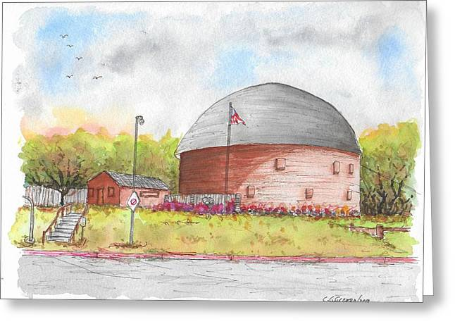 Round Barn In Route 66, Arcadia, Oklahoma Greeting Card