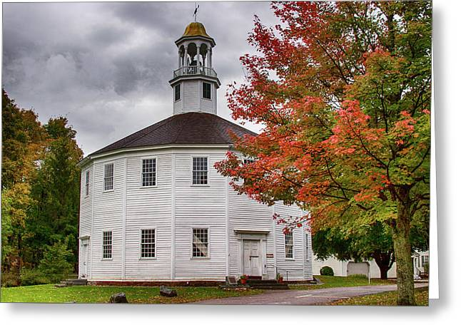 Round Church In Vermont Greeting Card