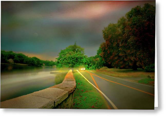 Round The Bend Greeting Card