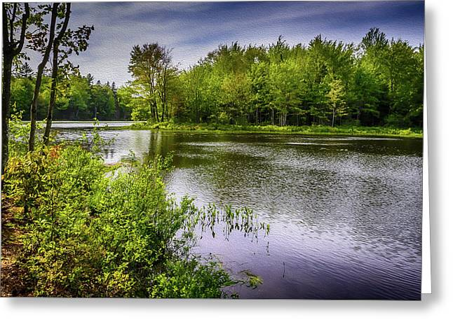 Greeting Card featuring the photograph Round The Bend In Oil 36 by Mark Myhaver