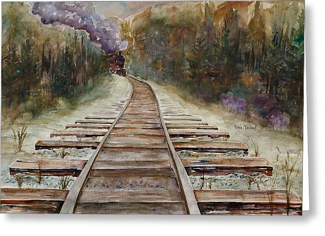 'round The Bend Greeting Card by Renee Chastant