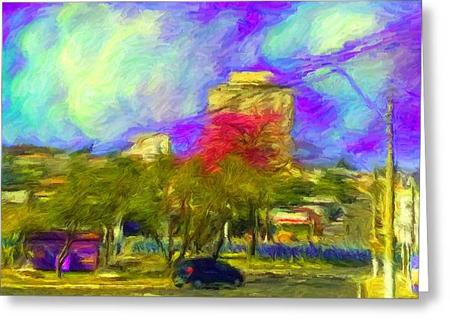 Roundabout In Franca Do Imperador  Greeting Card