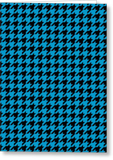 Rounded Houndstooth Black Pattern 18-p0123 Greeting Card by Custom Home Fashions