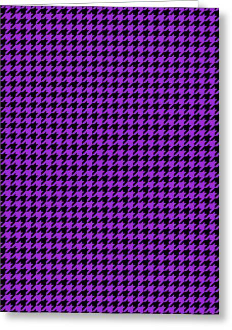 Rounded Houndstooth Black Pattern 30-p0123 Greeting Card by Custom Home Fashions