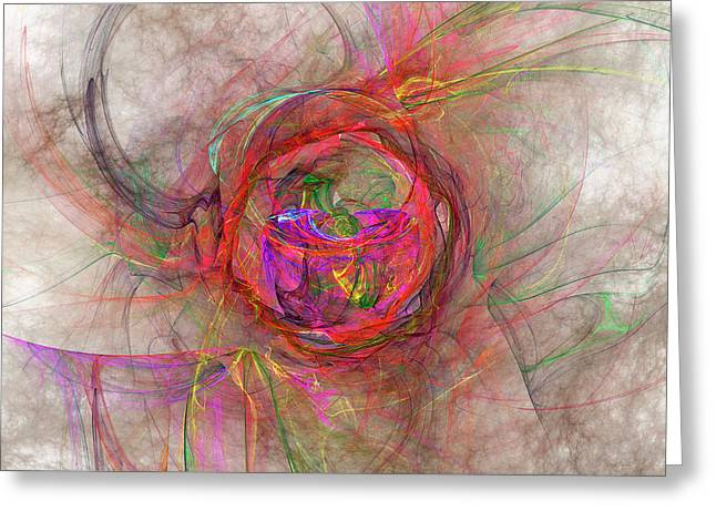 Roundel Greeting Card by Michael Durst