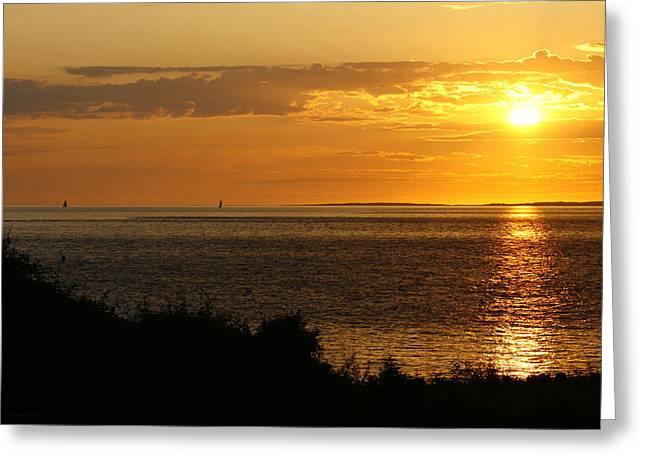 Rounding Block Island At Sunrise Greeting Card