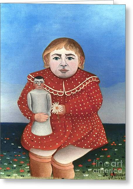 Rousseau: Child/doll, C1906 Greeting Card by Granger