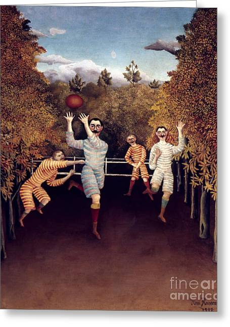 Rousseau: Football, 1908 Greeting Card by Granger
