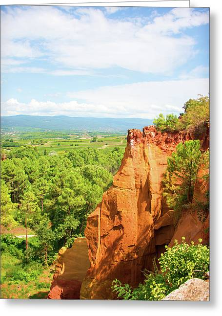 Roussillon Greeting Card by Curt Rush