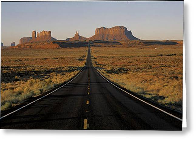 Route 163 Monument Valley Ut Greeting Card by Panoramic Images