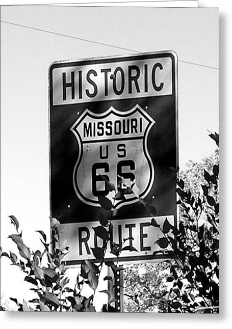 Route 66 Greeting Card by Audrey Venute