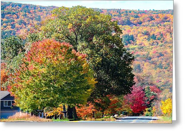 Greeting Card featuring the photograph Route 66 Autumn Drive by Sven Kielhorn