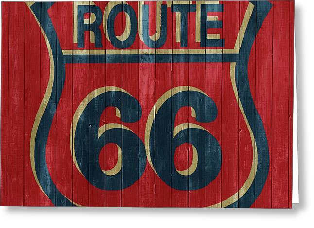 Route 66 Barn Door Greeting Card