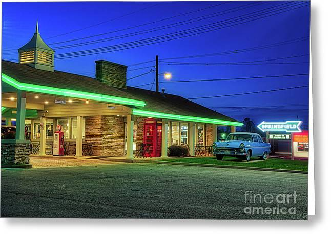 Route 66 Best Western Greeting Card