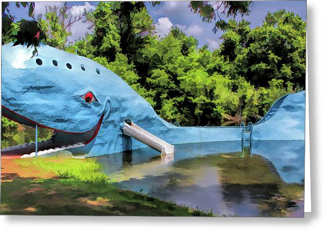 Route 66 Blue Whale Of Catoosa Greeting Card