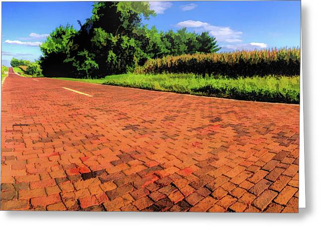 Route 66 Brick Road Greeting Card