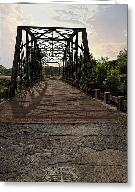 Route 66 Bridge Greeting Card