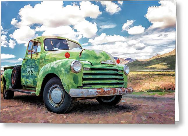 Route 66 Chevy Truck Greeting Card
