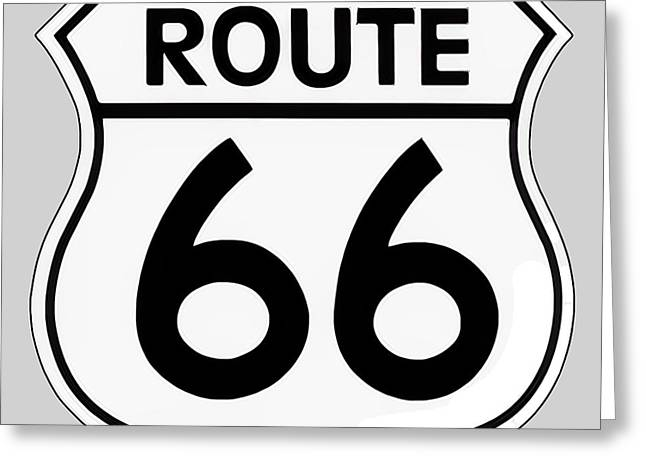 Route 66 Sign Greeting Card